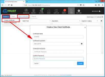 Create VC Certificate