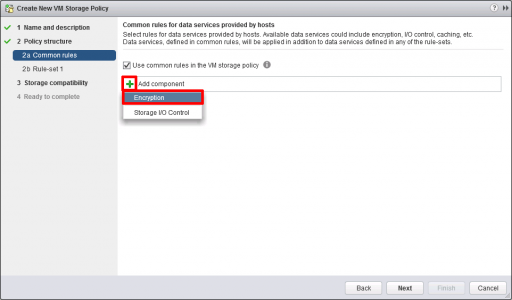 Add VMware Encryption