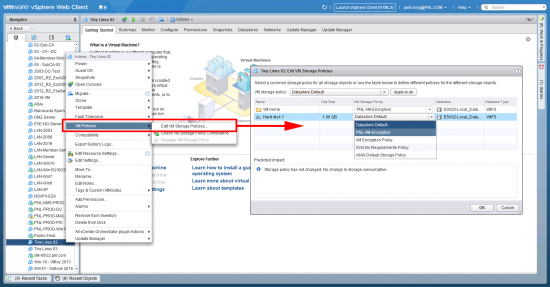 How To encrypt a VM in VMware