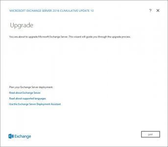 Exchange 2016 Upgrade
