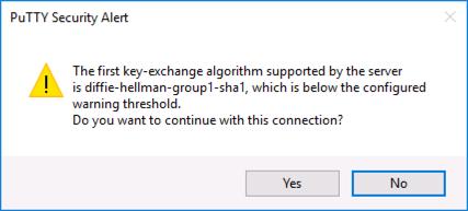 SSH Error Diffie Hellman Group 1