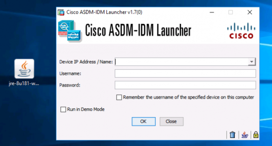 Windows 10 ASDM