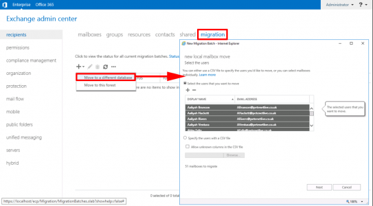 Exchange 2019 Migrate Mailboxes