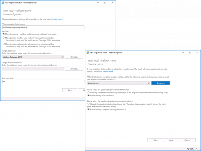 Exchange 2019 Mailbox Migration