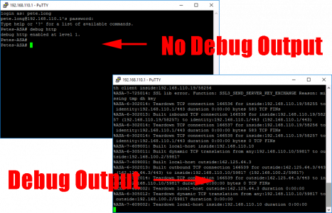 No Debug Output