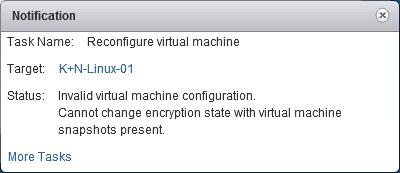 Encryption VM Snapshots