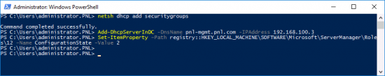 Configure DHCP via PowerShellConfigure DHCP via PowerShell