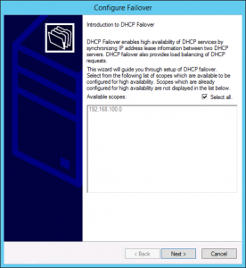 Windows DHCP Failover