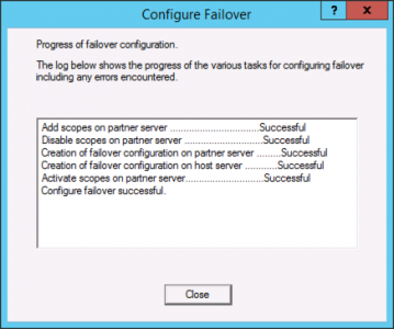 DHCP Failover Complete