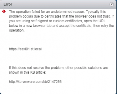 Upload to ESXi Fails Certificate