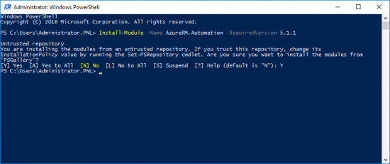 Install Azure Power Shell