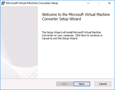 Install Microsoft Virtual Machine Converter