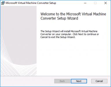 Install Microsoft Virtual Machine Converter