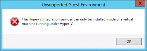 Hyper-V unsupported Guest