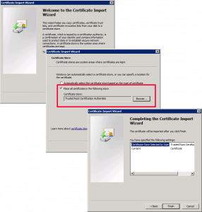 Import vCenter Root CA Certificate