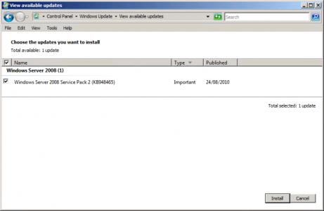 Server 2008 Service Pack
