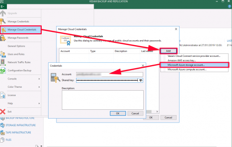 Veeam Add Azure Storage Account