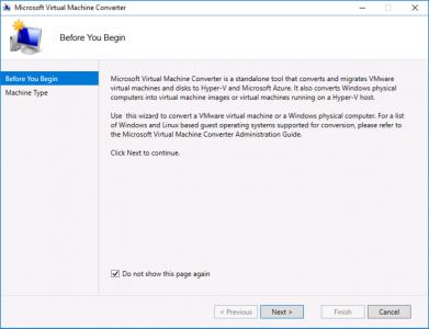 Run Microsoft Virtual Machine Converter