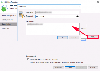 Veeam Azure Account Authentication