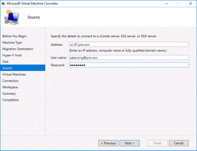 Migrate to Hyper-V Source