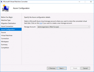 Migrate vCenter to Azure Storage Account