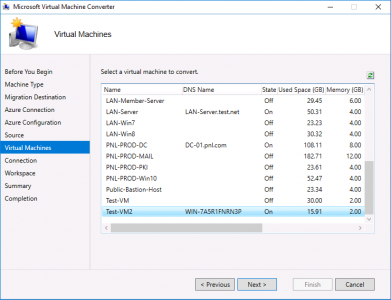 Migrate vCenter to Azure VM
