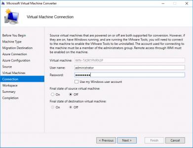 Migrate vCenter to Azure Connection