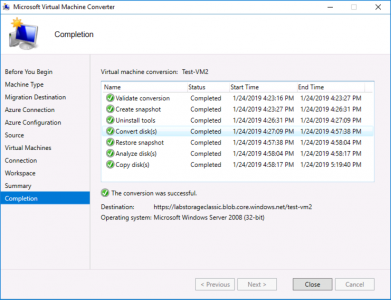Migrate vCenter to Azure Completed