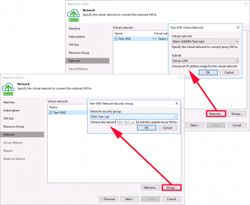 Veeam Restore VMware to Azure Networking