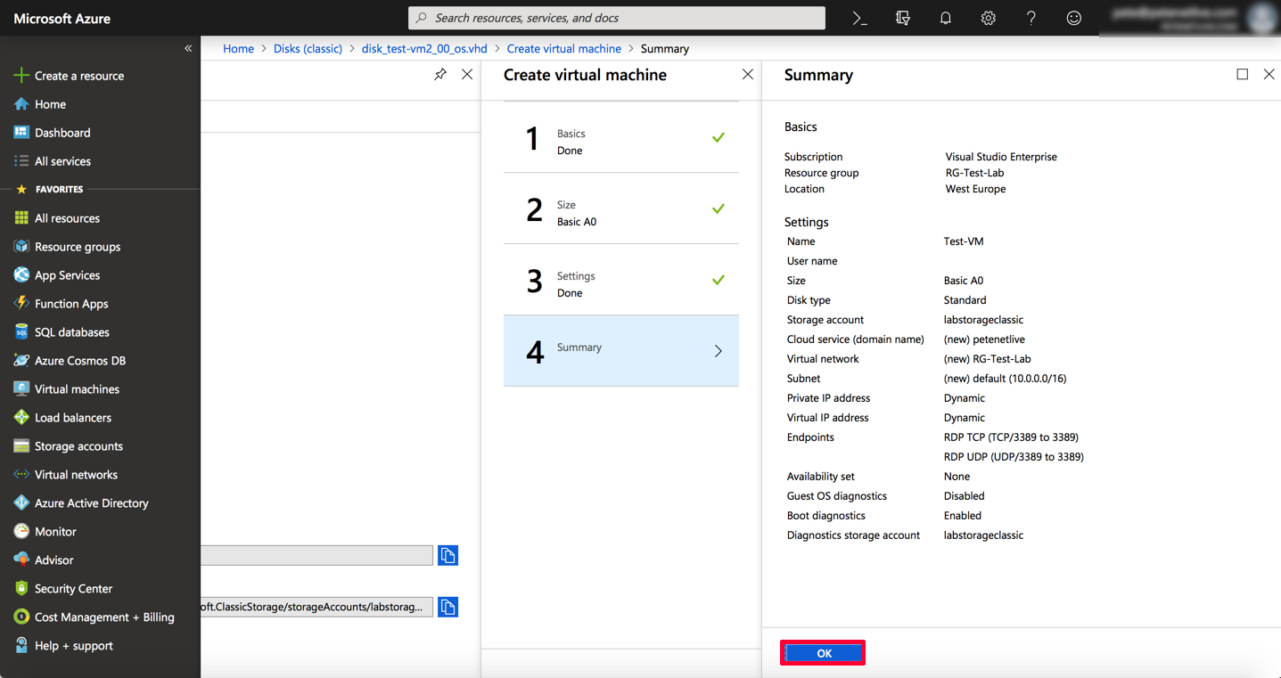 Migrate a VM from vCenter to Azure | PeteNetLive