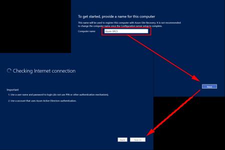 Setup Azure Site Recovery Server