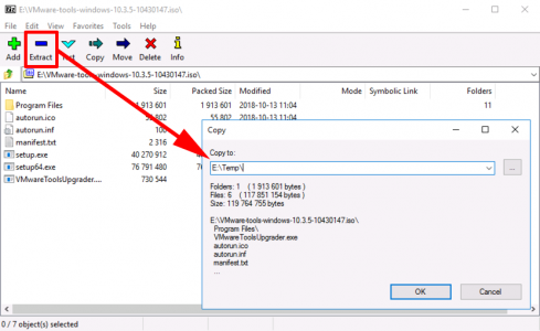 Extract VMware Tools Drivers