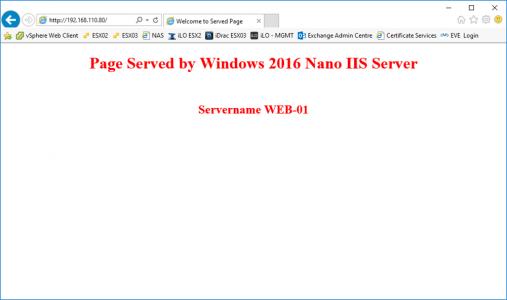 Test Nano IIS