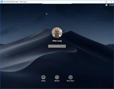 Remote desktop to macOS