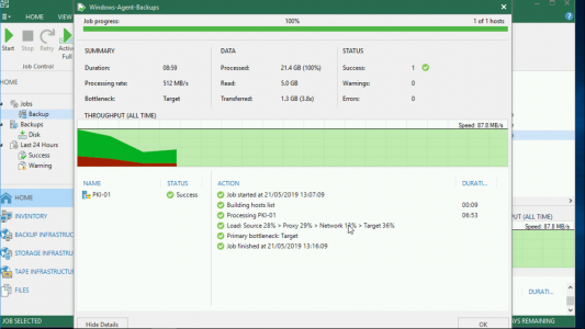 Veeam Backup via Agent