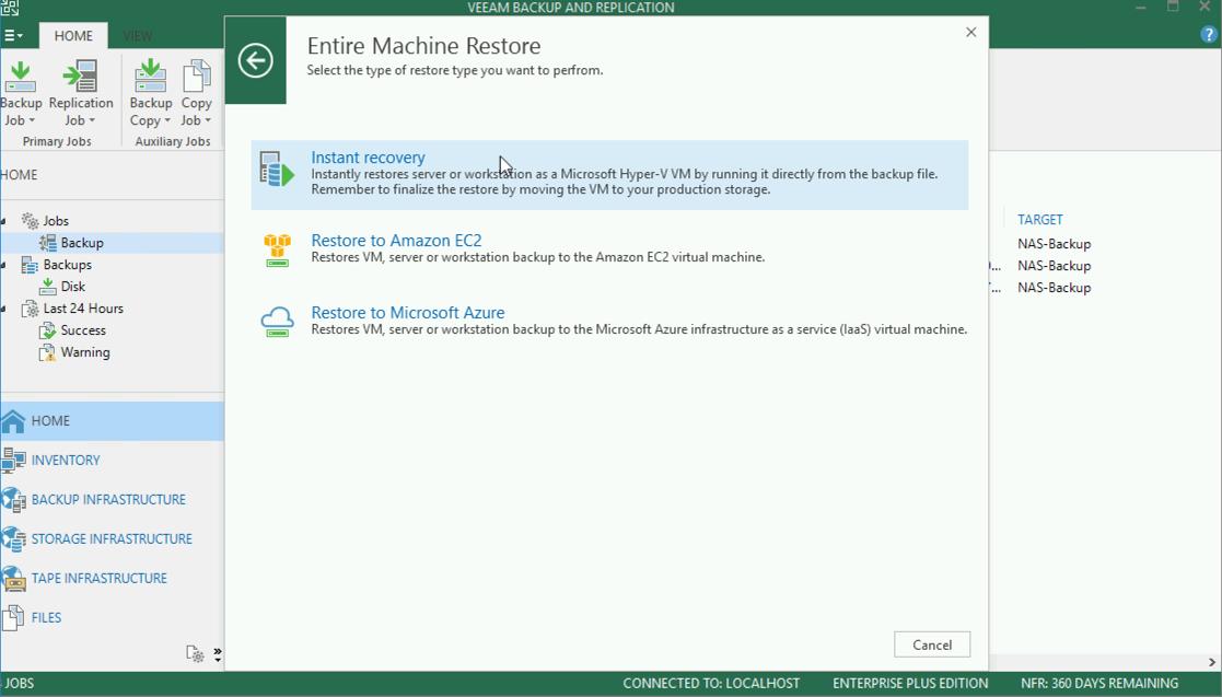 Veeam: Restore/Migrate vSphere VM to Hyper-V | PeteNetLive