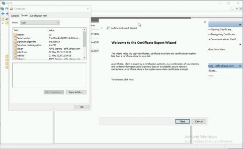 Export ADFS Signing Certificate