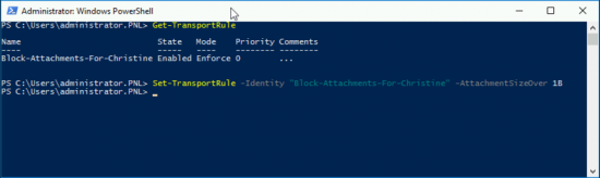 O365 Block All Atachments from One User