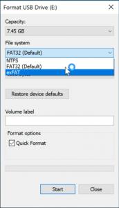 Format ExFat