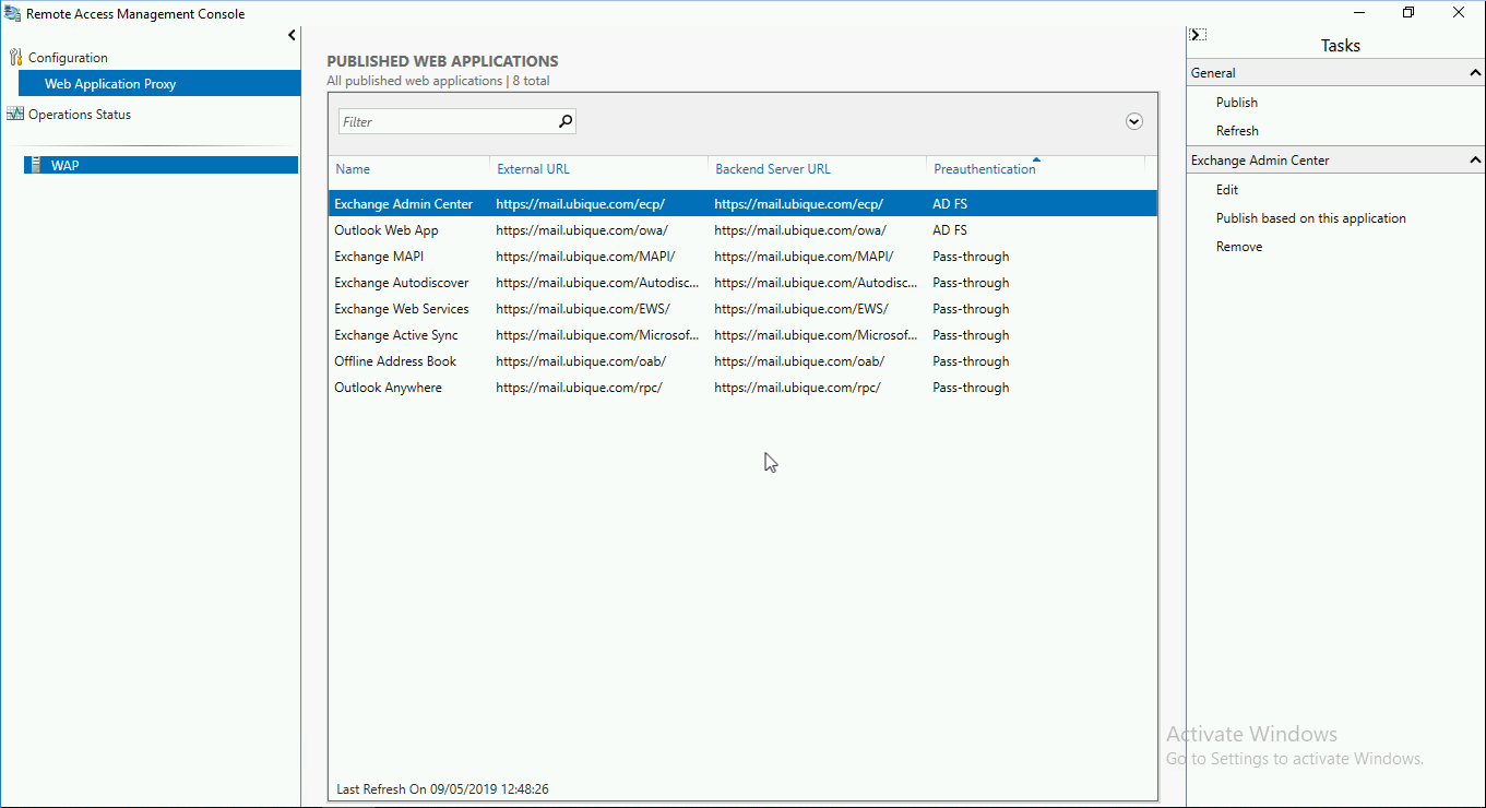 Exchange 2019: Presenting Outlook Anywhere With WAP