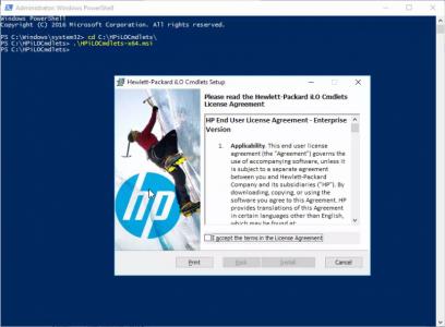 Install HP iLO PowerShell