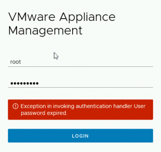 VCSA Root Passowrd Expired