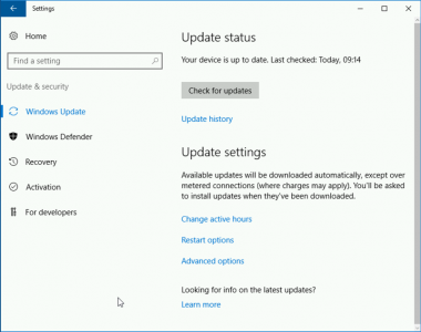 Windows 2016 Fuilly Updated