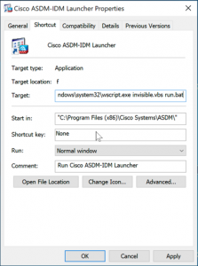 Fix ASDM Target
