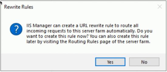 Configure ARR URL Rewrite
