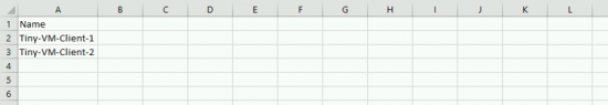 VMs in.CSV File