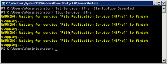 PowerShell Stop and Disable a Windows Service