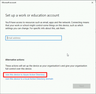 Join Windows 10 to Azure AD domain
