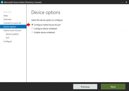 Configure Hybrid Azure AD Join
