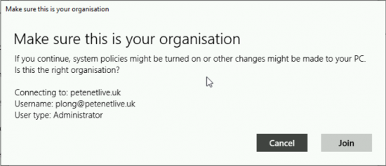 Join Azure Actrive Directory